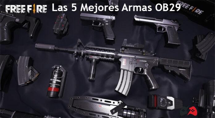 Las 5 mejores armas AR en Free Fire en la actualización OB29